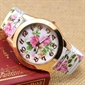 Women Flower Analog Watch