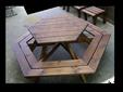 שולחן פקניק מעץ מלא